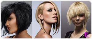 Асимметрия для тонких волос
