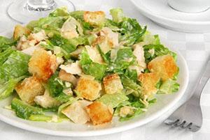 Калорийность салата цезарь с курицей