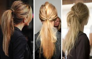 Конский хвост на средние волосы