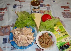 Состав салата цезарь с курицей