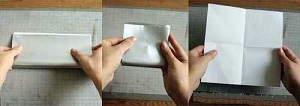 Инструкция снежинки оригами начало
