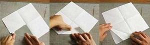 Инструкция снежинки оригами шаг второй