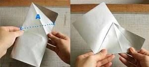 Инструкция снежинки оригами шаг  третий