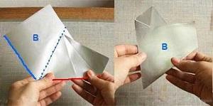 Инструкция снежинки оригами шаг четвертый