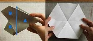 Инструкция снежинки оригами шаг пятый