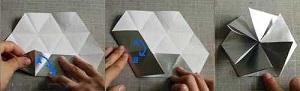 Инструкция снежинки оригами шаг восьмой