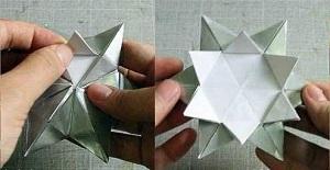 Инструкция снежинки оригами шаг десятый