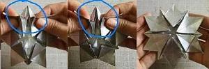 Инструкция снежинки оригами шаг одиннадцатый