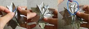 Инструкция снежинки оригами завершение
