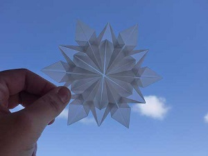 Инструкция снежинки оригами конец