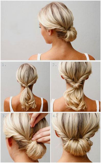 Быстрая прическа для средних волос