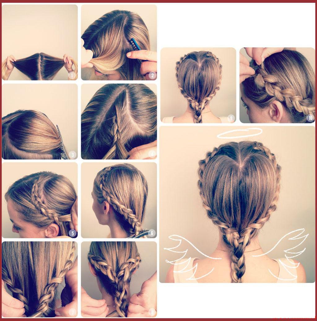 Как сделать причёску из двух колосков