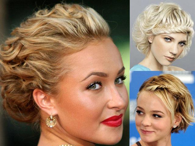 Примеры оригинальных причесок на короткие волосы