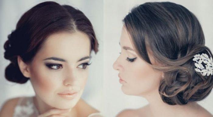 Фото свадебной укладки на средние волосы