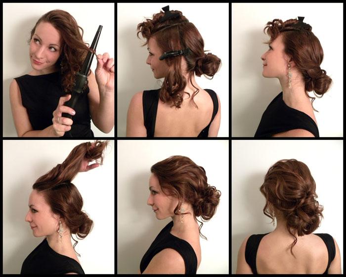пучок на короткие волосы своими руками пошаговая инструкция фото
