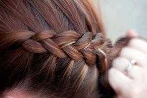 Как заплести французскую косу наоборот