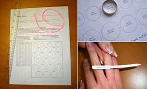 Как определить размер кольца в домашних условиях при помощи бумаги