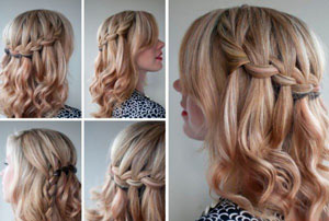 Как самостоятельно заплести косу водопад