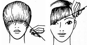 Как красиво подстричь челку