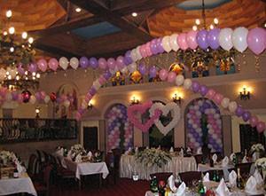 Как украсить зал на свадьбу своими руками воздушными шарами