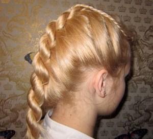 Как выглядят косы из жгутов