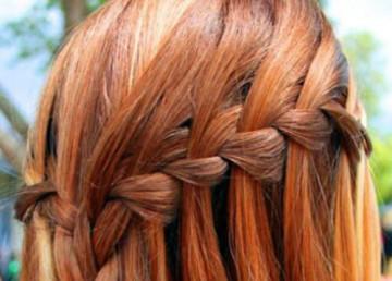 как заплести косу водопад