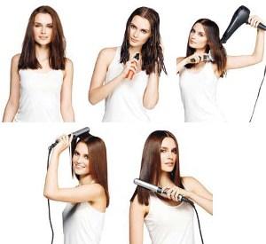 Как выпрямитель волосы без плойки