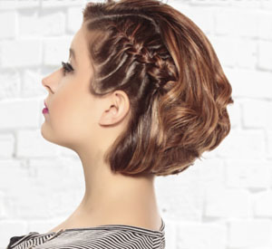 Как сделать прическу с косичкой на короткие волосы
