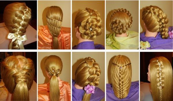 простые прически без кос