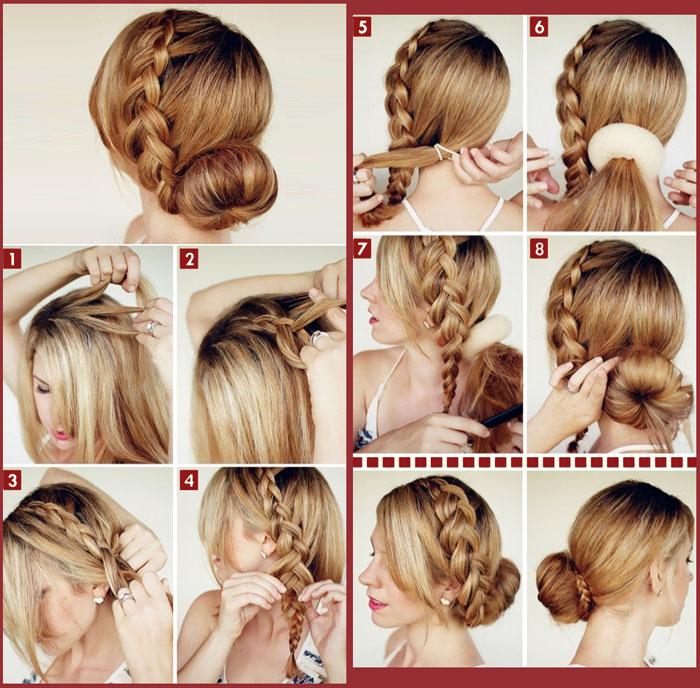 Красивый пучок на средние волосы - прическа для любого случая жизни: просто научиться делать, легко поражать воображение окружаю