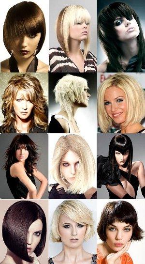 Креативные стрижки для средних волос