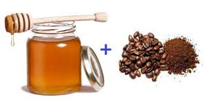 Очищающая маска для лица с медом и кофе
