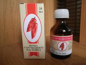 Настойка красного перца как средство от облысения