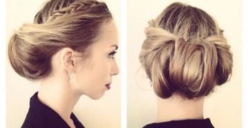 несложные прически на средний волос