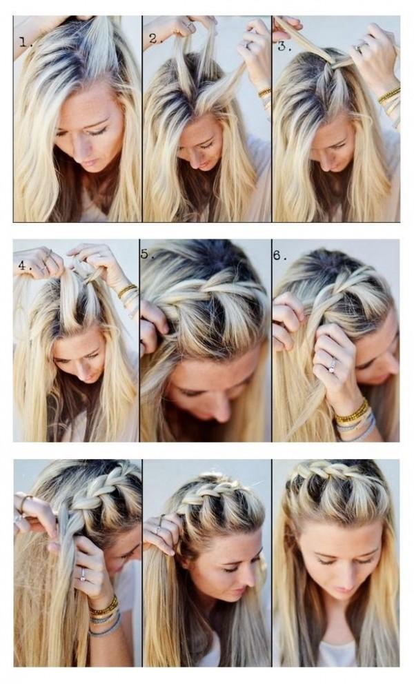 легкие прически на распущенные волосы самой себе