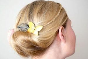 Объемный пучок для волос до плеч