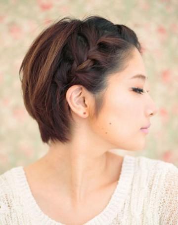 как сделать косички на короткие волосы
