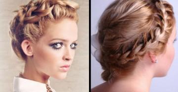 плетение косичек на средние волосы
