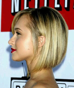 Side part haircut women