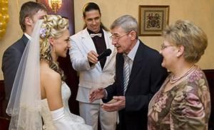 Поздравления в день свадьбы для невесты от свекра и свекрови