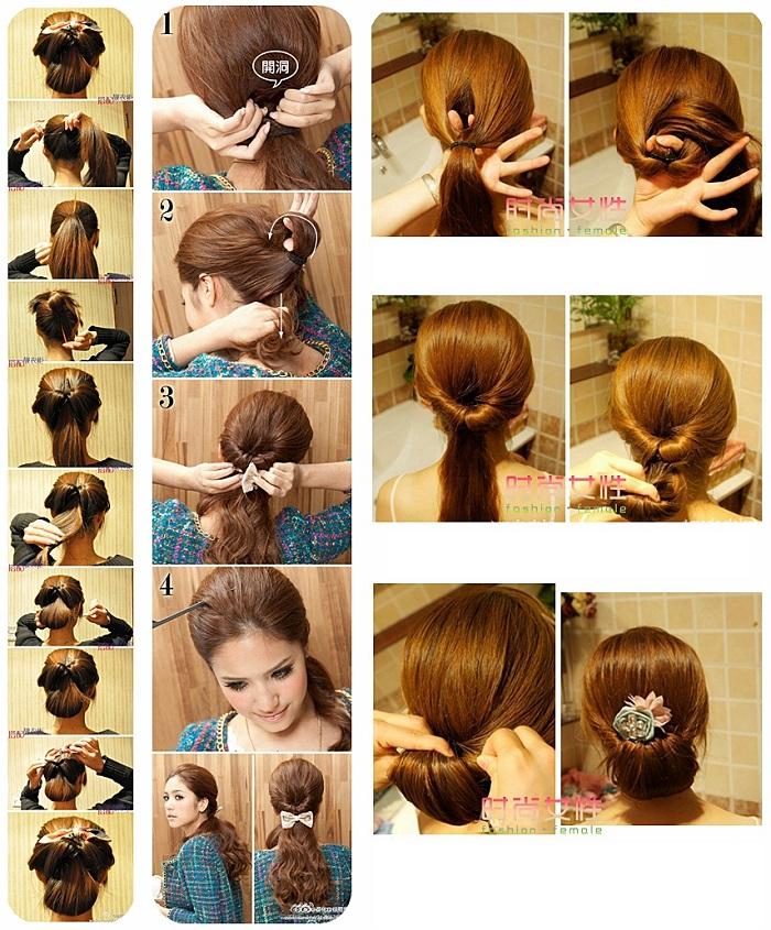 Причёски для девочек пошаговая инструкция с фото
