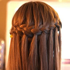Прическа водопад на средние волосы