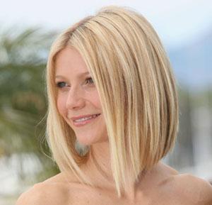 Прямой боб на средние волосы