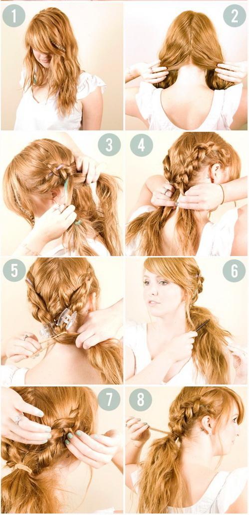 Несложные красивые прически на средние волосы