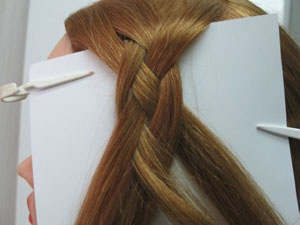 Схема косы из 4 прядей