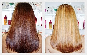 Осветлить волосы на 1-2 тона краской