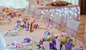как украсить свадебный стол своими руками