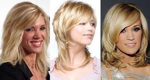 Стрижка для прически на средние волосы
