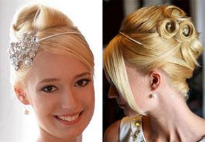 Свадебная укладка на средние волосы