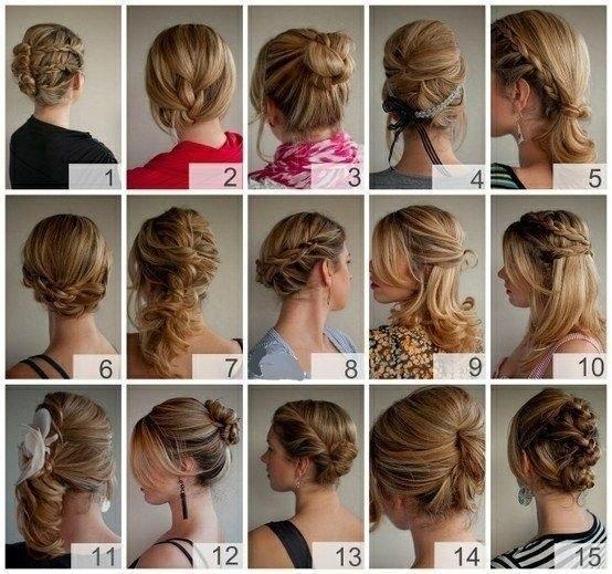 Праздничные укладки для средних волос